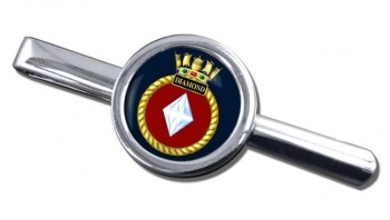HMS Diamond (Royal Navy) Round Tie Clip