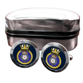 HMS Duke of York (Royal Navy) Round Cufflinks
