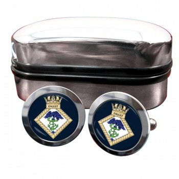HMS Eaglet (Royal Navy) Round Cufflinks