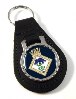 HMS Eaglet (Royal Navy) Leather Key Fob