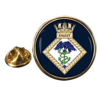 HMS Eaglet (Royal Navy) Round Pin Badge
