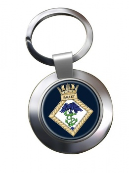 HMS Eaglet (Royal Navy) Chrome Key Ring