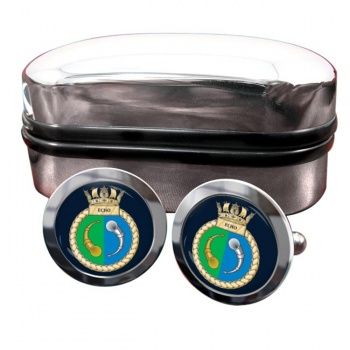HMS Echo (Royal Navy) Round Cufflinks