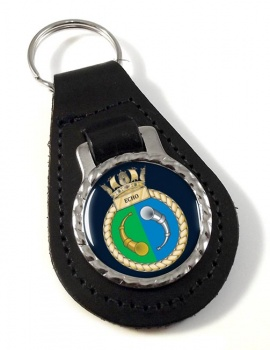 HMS Echo (Royal Navy) Leather Key Fob