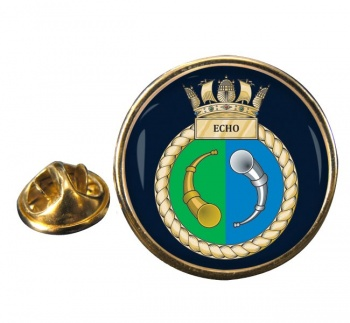 HMS Echo (Royal Navy) Round Pin Badge
