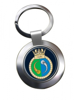 HMS Echo (Royal Navy) Chrome Key Ring