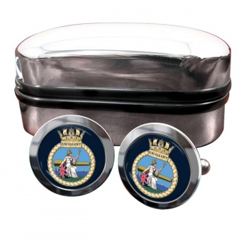 HMS Excellent (Royal Navy) Round Cufflinks