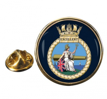 HMS Excellent (Royal Navy) Round Pin Badge