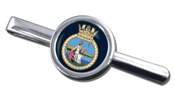 HMS Excellent (Royal Navy) Round Tie Clip