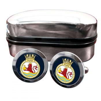HMS Exeter (Royal Navy) Round Cufflinks
