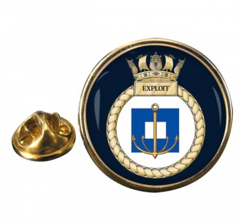 HMS Exploit (Royal Navy) Round Pin Badge