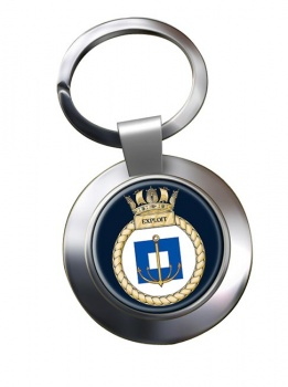 HMS Exploit (Royal Navy) Chrome Key Ring