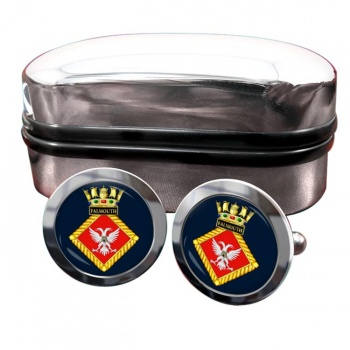 HMS Falmouth (Royal Navy) Round Cufflinks