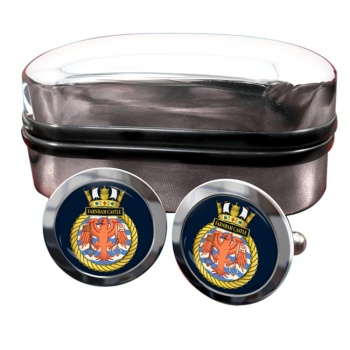 HMS Farnham Castle (Royal Navy) Round Cufflinks
