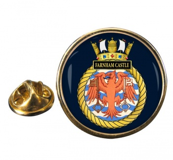 HMS Farnham Castle (Royal Navy) Round Pin Badge