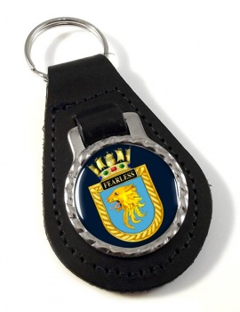 HMS Fearless (Royal Navy) Leather Key Fob