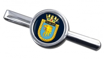 HMS Fearless (Royal Navy) Round Tie Clip