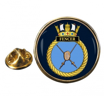 HMS Fencer (Royal Navy) Round Pin Badge
