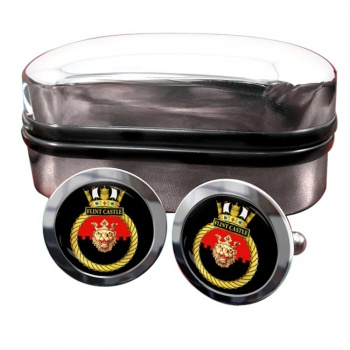 HMS Flint Castle (Royal Navy) Round Cufflinks