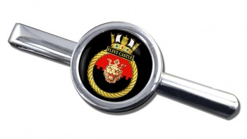 HMS Flint Castle (Royal Navy) Round Tie Clip