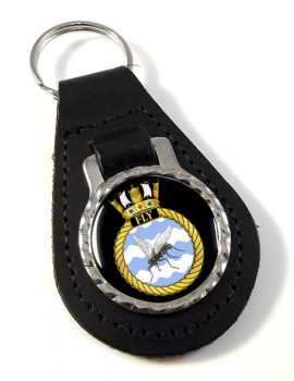 HMS Fly (Royal Navy) Leather Key Fob