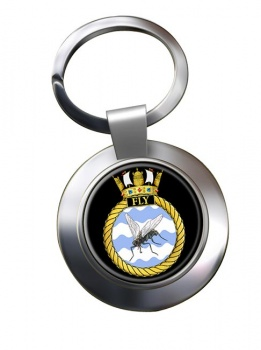 HMS Fly (Royal Navy) Chrome Key Ring
