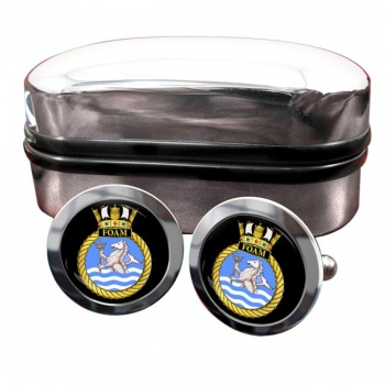 HMS Foam (Royal Navy) Round Cufflinks
