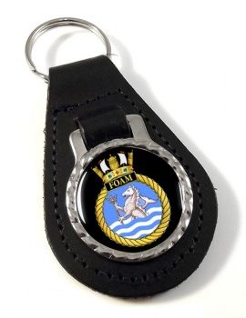 HMS Foam (Royal Navy) Leather Key Fob