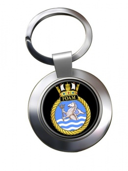 HMS Foam (Royal Navy) Chrome Key Ring