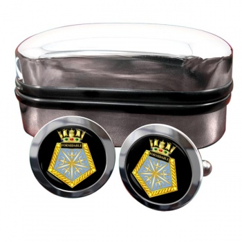 HMS Formidable (Royal Navy) Round Cufflinks