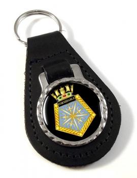 HMS Formidable (Royal Navy) Leather Key Fob