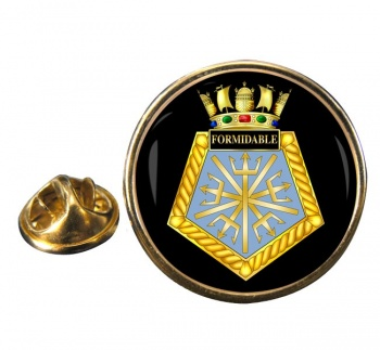 HMS Formidable (Royal Navy) Round Pin Badge