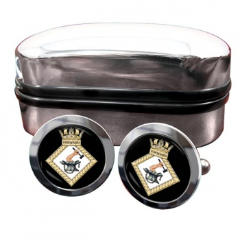 HMS Forward (Royal Navy) Round Cufflinks