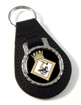 HMS Forward (Royal Navy) Leather Key Fob