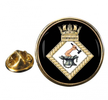 HMS Forward (Royal Navy) Round Pin Badge