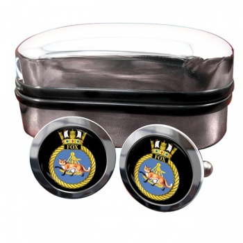 HMS Fox (Royal Navy) Round Cufflinks