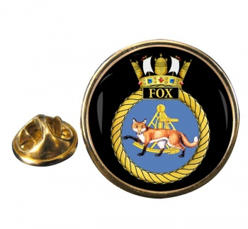 HMS Fox (Royal Navy) Round Pin Badge