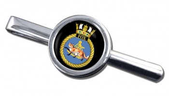 HMS Fox (Royal Navy) Round Tie Clip