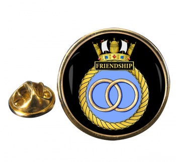 HMS Friendship (Royal Navy) Round Pin Badge