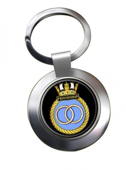 HMS Friendship (Royal Navy) Chrome Key Ring