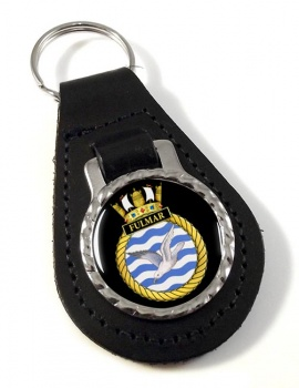 HMS Fulmar (Royal Navy) Leather Key Fob