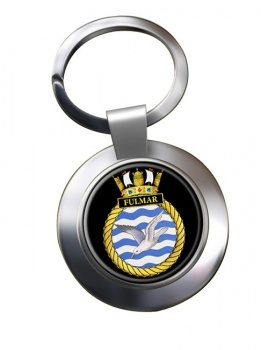 HMS Fulmar (Royal Navy) Chrome Key Ring