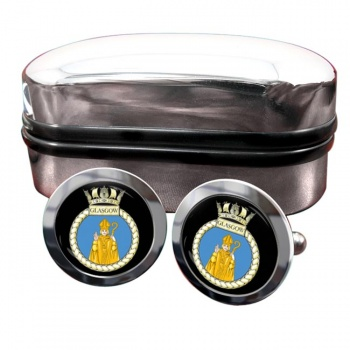 HMS Glasgow (Royal Navy) Round Cufflinks