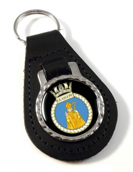 HMS Glasgow (Royal Navy) Leather Key Fob
