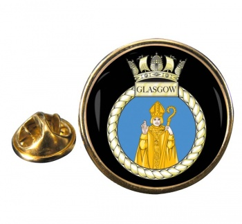 HMS Glasgow (Royal Navy) Round Pin Badge