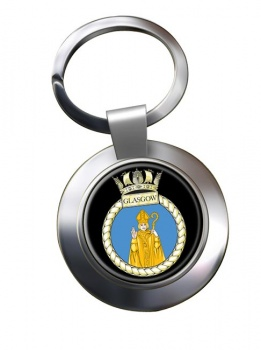 HMS Glasgow (Royal Navy) Chrome Key Ring