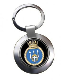 HMS Gloucester (Royal Navy) Chrome Key Ring