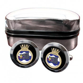 HMS Grimsby (Royal Navy) Round Cufflinks