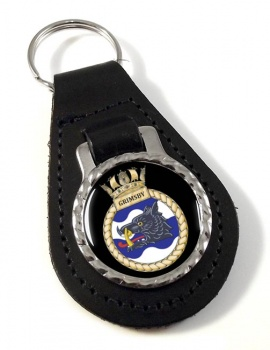 HMS Grimsby (Royal Navy) Leather Key Fob