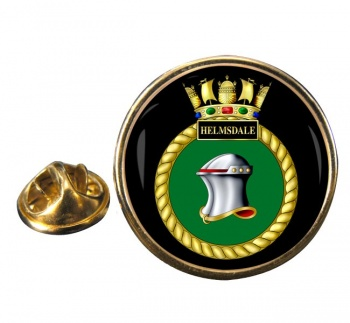 HMS Helmsdale (Royal Navy) Round Pin Badge